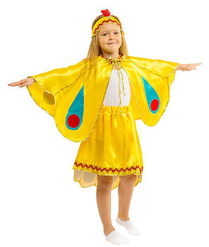 Костюм Жар-птицы: юбка с хвостом, накидка и повязка с монетками и пером., фото 2