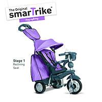 Велосипед  3-х колесный с ручкой и корзиной  Smart Trike Explorer 5 в 1  фиолетовый