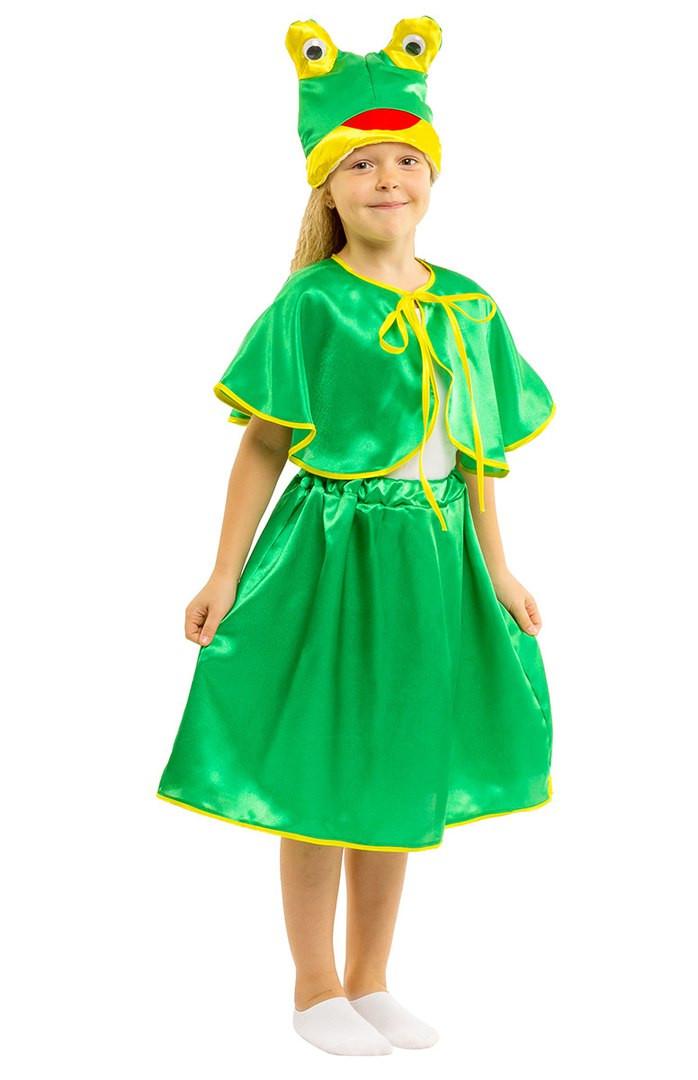 Костюм Лягушки для девочки: юбка, накидка и шапка-маска.