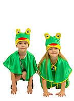 Костюм Лягушки для мальчика: шорты, накидка и шапка-маска.