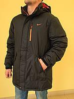 Мужская спортивная куртка N 832868 черный с оранжевым код 278б