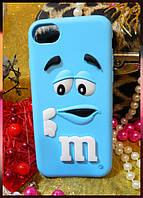 Мягкий чехол серии m&m для Apple iPhone 7 голубой