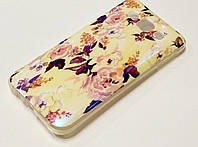 Чехол силиконовый с рисунком розы для Samsung Galaxy E5 E500h