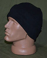 Зимняя микрофлисовая шапка, черная. НОВАЯ. Польша