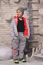 """Е1982 Подростковый теплый костюм """"BOY"""" Серый, фото 2"""