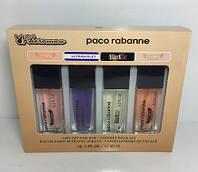 Подарочный,парфюмерный набор с феромонами Paco Rabanne - 4шт по 15мл