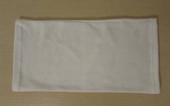 Шарф-труба зимний флисовый белый , фото 3