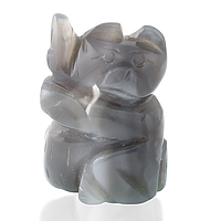 Агат, статуэтка, мишка