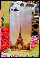 """Силиконовый чехол серии """"Города Париж"""" для Apple iPhone 7"""