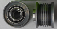 Ременной шкив (7 ребер) генератора на Рено Трафик (2.0/2.5dCi) - VALEO (Франция) 588027