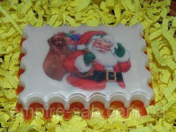 """Мыло с картинкой """"Дед Мороз"""""""