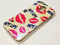 Чехол силиконовый с рисунком hot lips губы для Samsung Galaxy S5 mini g800h