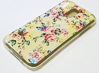 Чехол силиконовый с рисунком розы для Samsung Galaxy S5 mini g800h