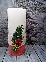 Свеча с декором 4