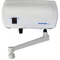 Проточный электро водонагреватель АТМОР Basic 3,5кВт Кран+Шнур 2л/мин