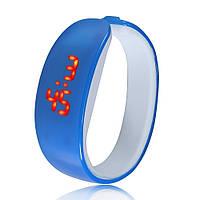 Женские наручные LED часы и браслет 2 в 1, Синий, фото 1