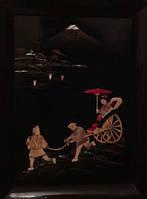 """Пара картин """"Гора Фудзияма"""" Япония  период Тайсё - Сёва"""
