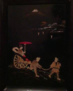 Пара картин Гора Фудзияма Япония  период Тайсё - Сёва, фото 2