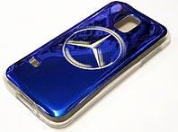 Чехол силиконовый с рисунком mercedes эмблема для Samsung Galaxy S5 mini g800h