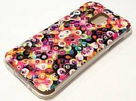 Чехол силиконовый с рисунком цветные кружки для Samsung Galaxy S5 mini g800h