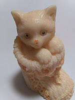 Котик в носке , 3-D мыло ручная работа.