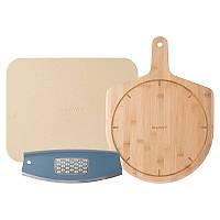 Набор для пиццы (лопата, поверхность для приготовления, нож-лезвие с теркой для сыра)