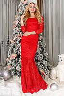 """Платье """"Голди макси""""  Красный"""