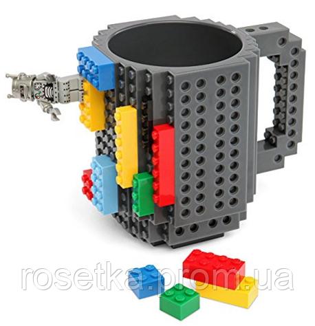 Кружка-конструктор Lego - Build-On Brick Mug 340 мл. для дітей та дорослих, аналог Лего