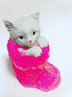 Котик в носке-1 , 3-D мыло ручная работа.