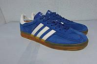Мужские кроссовки Adidas футзал (1045-6) синие код 0503 А