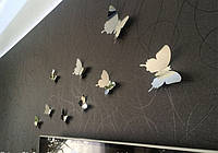 Бабочки зеркальные для декора интерьера