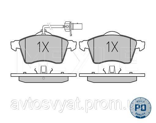 Колодки тормозные пер. T4 2.5TDI 96- (с датчиком)