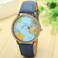 """Часы женские """"Карта мира"""" Blue"""