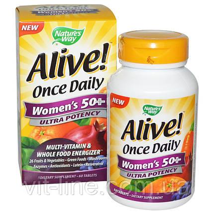 Alive Мультивітаміни для жінок за 50 + nature's Way, фото 2