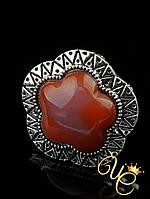 Кольцо Сердолик «Модное III»