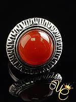 Кольцо Сердолик «Мудрое IV»