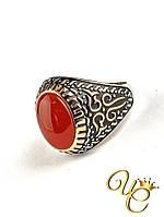 Кольцо Сердолик (серебро/золото) «Недоступное XIV»