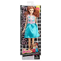 Кукла Барби Модница в голубой юбке, Fashionista Barbie Doll