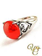 Кольцо Коралл (серебро) «Нежное XI»