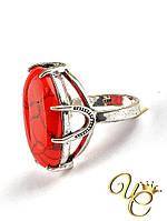 Кольцо Коралл (серебро) «Незабвенное XII»