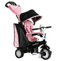 Велосипед  3-х колесный с ручкой и корзиной  Smart Trike 4w1 Seria Chic черно-розовый