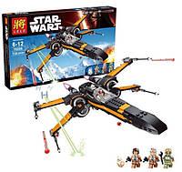 Конструктор Lele 79209 (аналог LEGO Star Wars 75102) X-Wing истребитель Поу, 735 деталей