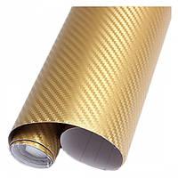 Карбоновая пленка Золото, фото 1