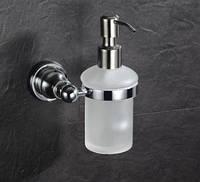 Дозатор для жидкого мыла настенный стекло с металом для магазина кафе ресторана супермаркета, фото 1