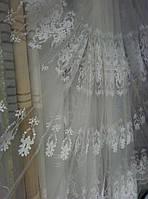 Тюль фатин Нелли белая (Турция) Осталось 1.9 м.