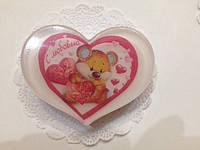 Мыло сердечко мишка с любовью, мыло ручная работа. Подарок