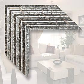 Зеркало в деревянном багете, серебренное поталь
