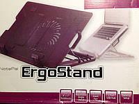 Подставка для ноутбука Охлаждающая  Ergo Stand 181/928 Большой Куллер !!! Акция !!!