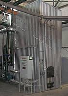 Теплогенератор твердотопливный воздухогрейный 1 МВт на отходах (щепе, опилках, лузге, шелухе, жмыхе, гранулах, пеллетах) с механизированной подачей