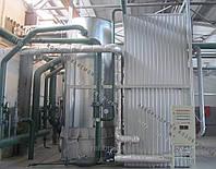 Теплогенератор твердотопливный воздухогрейный 2 МВт на отходах (щепе, опилках, лузге, шелухе, жмыхе, гранулах, пеллетах) с механизированной подачей
